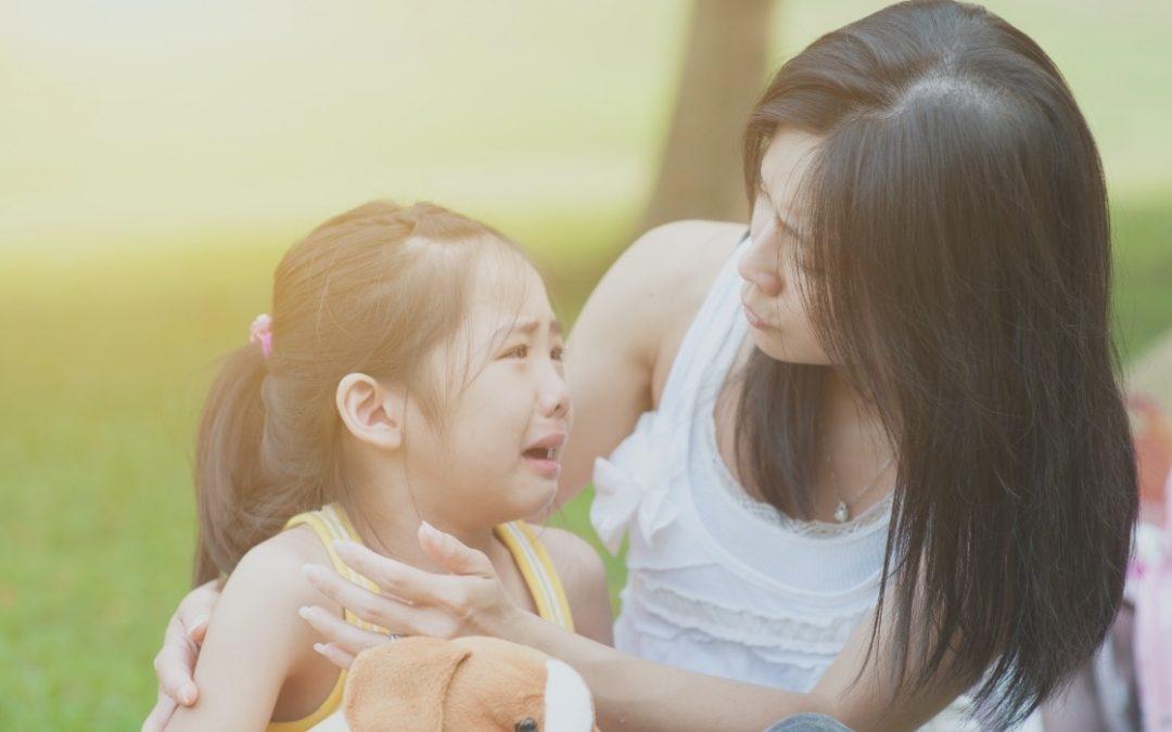 How can I calm down my child?
